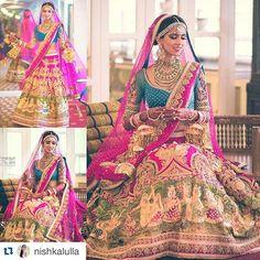 Indian wedding outfit Neeta Lulla Designer Nishka Lulla's Bollywood Celebrity Wedding {Mumbai} Indian Bridal Wear, Indian Wedding Outfits, Bridal Outfits, Indian Outfits, Bridal Dresses, Indian Clothes, Neeta Lulla, Desi Wedding, Wedding Wear
