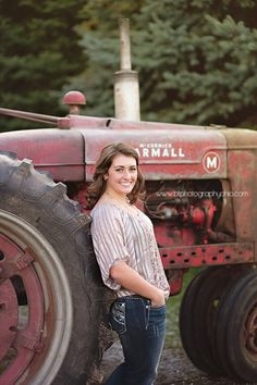 An Ohio Senior Session - Senior Pictures Ideas For Farm Girls Farm Senior Pictures, Senior Photos Girls, Senior Girls, Girl Pictures, Tractor Pictures, Senior 2018, Music Pictures, Senior Photography, Portrait Photography