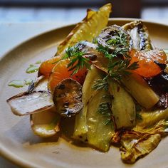 Our new #menu is available from today! Come and try some Grilled Chicory - #clementine, #pickled #walnut #duckandwaffle