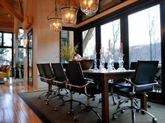 Discover the latest trends in dining room lighting with pictures of dining room lighting styles and designs at HGTV.com.