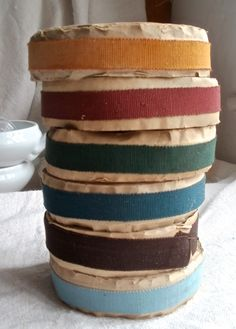 Vintage Grosgrain Tape, French Millinery & Upholstery Ribbon, Antique Haberdshery / 10 Yards Home Decor by BrocanteArt on Etsy