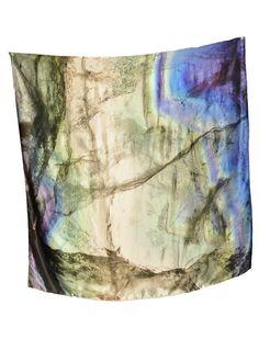 Blue Fluorite Large Silk Scarf by Weston Scarves