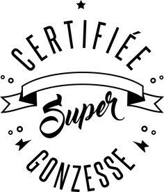 personnaliser tee shirt certifiée super gonzesse