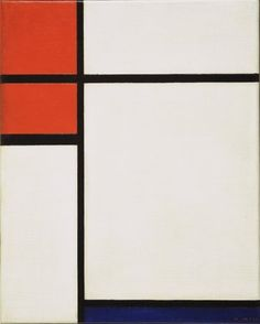 Composition with Red and Blue, Piet Mondrian