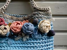 Crochet handbag / Rope handbag / Crochet rope bag / Summer