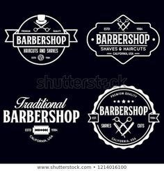 Set of vintage barbershop labels templates for Vector Image , Badge Template, Label Templates, Logo Design Template, Label Design, Barber Sign, Barber Shop Decor, Gentleman Barber Shop, Farmers Market Logo, Shaving Cut