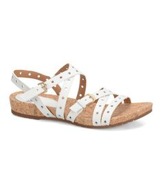 This White Malana Leather Sandal is perfect! #zulilyfinds