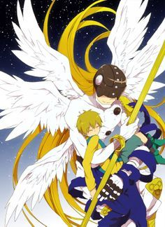 Angemon and Takeru