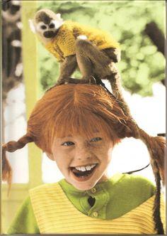 Pippi Langkous/Longstocking & her monkey Mr. 90s Childhood, Childhood Memories, Old Tv, Dog Friends, Funny Photos, Redheads, Children, Kids, Fairy Tales