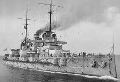 11 in SMS Nassau was the first German dreadnought in service, built in response to the revolutionary British battleship of that name: however she and her sisters still used reciprocating engines rather than turbines.  She rammed the British destroyer HMS Spitfire during the night phase of the Battle of Jutland in 1916.