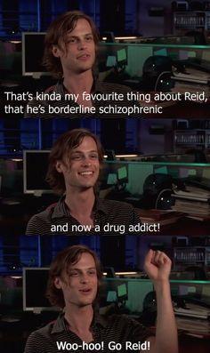 Dr. Spencer Reid :p I love Criminal Minds :)
