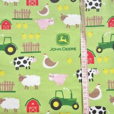 1m Cotton Flannel Tractor and Farm Scene with by handmadesource, $6.50