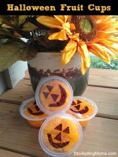 Perfect for lunch boxes! A healthy Halloween treat!