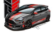2013 Ford Focus ST by Tanner Foust Racing - Design Sketch Mazda, Ford Focus Hatchback, Ford Fiesta St, Ford News, Car Colors, Rally Car, Car Wrap, Sport Cars, Custom Cars