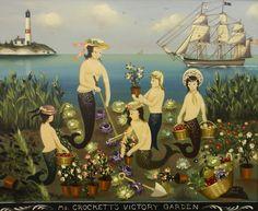 Mermaid Beach, Mermaid Art, Mermaids And Mermen, Art Thou, Nautical Art, Merfolk, People Art, Artist Names, Coat Of Arms