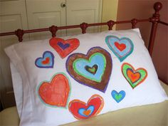 Custom pillowcases - great idea for a slumber party!