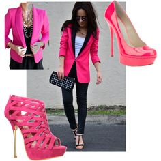 Pretty in Pink, created by tiannaelaine.polyvore.com