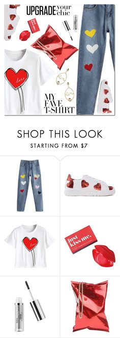 """""""Dress Up a T-Shirt"""" by ansev ❤ liked on Polyvore featuring Chiara Ferragni, Avon, Anya Hindmarch and MyFaveTshirt"""