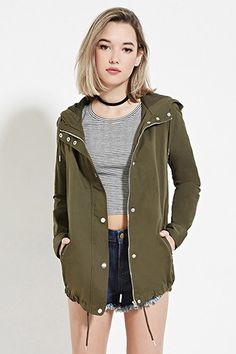 Hooded Zip-Up Jacket | Forever 21 - 2000168288