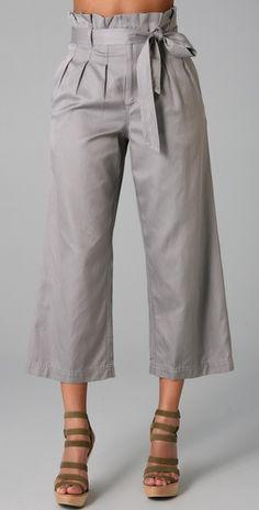 Gwyneth twill trousers, Marc by Marc Jacobs 2011