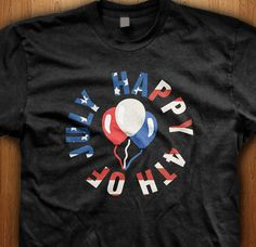 Celebrate independence day with american balloons, happy 4th of july.  We only use Premium quality super soft shirts including Gildan and American