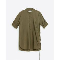 Zara Long Plain Shirt ($80) ❤ liked on Polyvore featuring men's fashion, men's clothing, men's shirts, men's casual shirts, green, mens green shirt, mens long sleeve casual shirts and mens long shirts