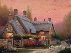 Thomas Kinkade - McKenna's Cottage  1990
