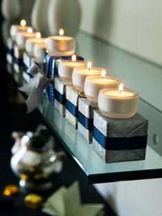 hanukkah decorations tea light menorah