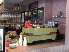 zink design the netherlands dutch holland utrecht la marzocco custom espresso machine sprudge Window Reveal, Steel Panels, Neo Victorian, Espresso Machine, Coffee Shop, Holland, Classic Style, Two By Two, Coffee Machines