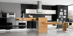 A cozinha de útima geração encontra na união do preto e branco um ambiente dinâmico que está além de tendências que vem e vão com o tempo.