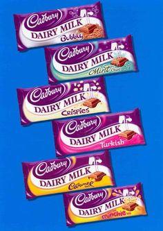 Cadbury- English chocolate - I want! Cadbury Chocolate Bars, Dairy Milk Chocolate, Cadbury Dairy Milk, Chocolate Sweets, I Love Chocolate, Chocolate Heaven, Chocolate Lovers, Chocolates, English Chocolate