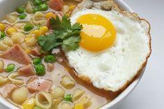 Hong Kong Style Spam & Egg Macaroni Soup (午餐肉通粉) recipe on Food52