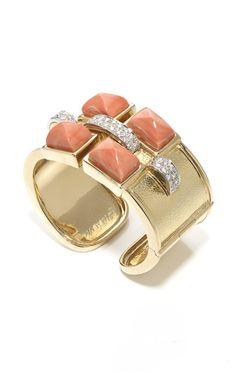 David Webb floral and diamond cuff