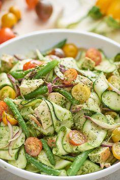 Chicken and Veggie Pesto Salad