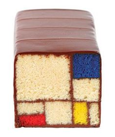 Blue Bottle Coffee Mondrian Cake: In this masterpiece, ganache laces through lush jewel-toned squares of cake.