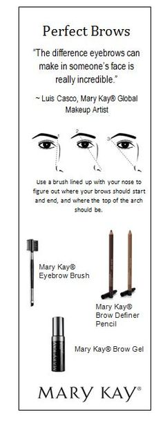 """The difference eye brows make in someone's face is really incredible""… which is why our friend, Mary Kay® Global Makeup Artist Luis Casco (tag him) is here to show us how to perfect them in this week's Runway to Your Way video! http://bit.ly/1DlRmj6"