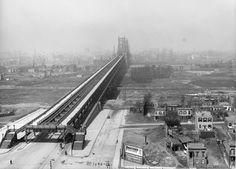 The Queensboro Bridge, leading to Manhattan, seen on May 1, 1912. (Eugene de Salignac/Courtesy NYC Municipal Archives)