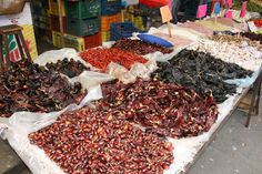 Chiles.  Patzcuaro, Mexico. Every chile has its own distinct flavor.