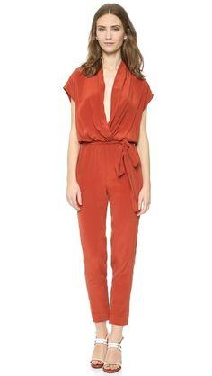 89677f97168 L AGENCE Olivia Jumpsuit Silk Jumpsuit