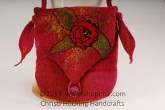 Wet Felted Purse Wet Felted Handbag Wool Purse Cross by shopch2