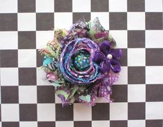 Purple Peacock Chiffon toddlers hair clip  girls by CappyClips