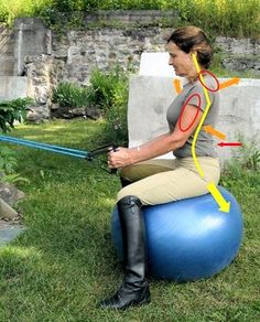 Fitness Tip for Riders: Steps to Better Posture & Hands Part 1: A Straighter Back