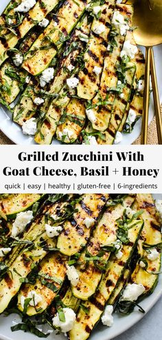 Grilled Zucchini With Goat Cheese, Basil & Honey | Walder Wellness, RD
