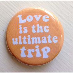 Love is the Ultimate Trip 1960s Button Monkees Micky Dolenz Pin Badge ($1.50) ❤ liked on Polyvore featuring jewelry, brooches, accessories, button, fillers, pin brooch, button brooch, ultimate jewelry, pin jewelry and button jewelry