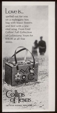 Love is...(Enid) Collins of Texas box bag magazine advertisment