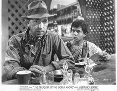 Humphrey Bogart and Robert Blake in The Treasure of the Sierra Madre (1948)