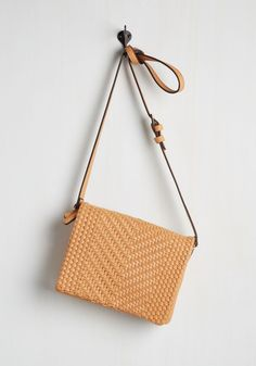 Weave Always Known Bag. The moment you spotted this tawny crossbody bag, it was love at first sight! #tan #modcloth