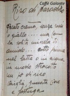 """antica ricetta del Caffè Galante; gelato """"Riso di Paradiso"""" - """"Riso di Paradiso"""" (paradise's rice) is a Café Galante's icecream ancient recipe"""