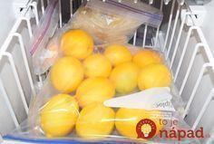 Viete, prečo by ste mali zmraziť citróny?