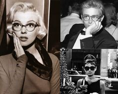 Marilyn Monroe, James Dean, and Audrey Hepburn